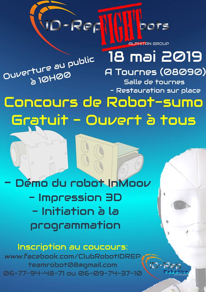 Id-Rep Fight Bots 2ème edition – Tournes – 18/5/19