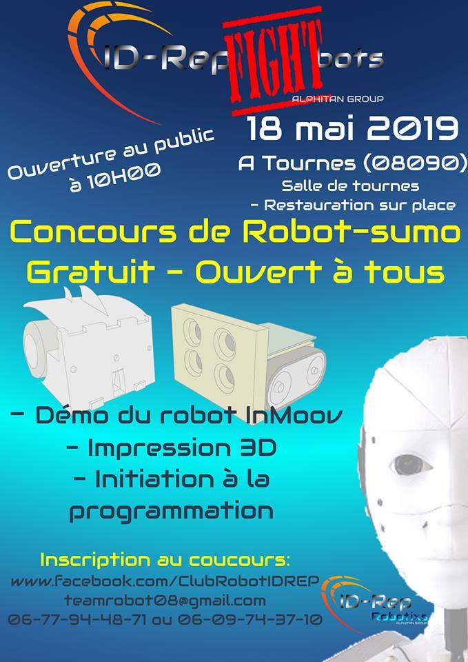Id-Rep Fight Bots 2ème edition – Tournes – 18/5/19